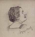 Portrait Cletusa Thoma, 1941, Privatbesitz