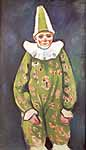 August Macke (1887-1914), Clown vestito di verde, 1909-10