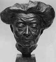 bronze of writer Ricarda Huch 1864-1944 in 1912