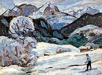 "Gabriele Muenter (1877-1962) ""Die Elmau im Winter"" , Galerie Ludorff"