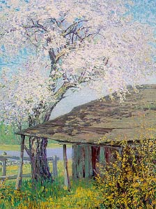 artist: Larry Hoffman (painting Childe Hassam's studio in 1909 - courtesy of The Florence Griswold Museum-