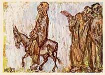 Leo von Welden (1899-1967), Einzug in Jerusalem, ca. 1965
