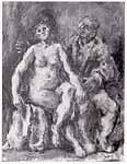 """Leo von Welden (1899-1967) """"Liebespaar"""""""