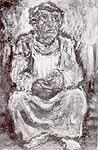 """Leo von Welden (1899-1967) """"Sitzende Gestalt"""""""