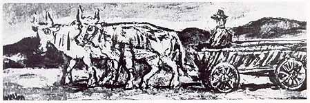 "Leo von Welden (1899-1967),""Ochsenkarren"", ca. 1965"