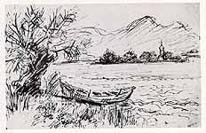 """Leo von Welden (1899-1967)""""Am Chiemsee bei Gstadt"""""""