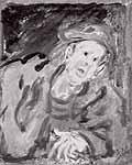 """Leo von Welden (1899-1967) """"Zwielichtige Gestalt"""""""