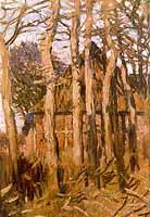 """Hans am Ende 1864-1918 """"Einsame Scheune im Herbst"""", ca. 1900"""