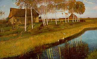 "Otto Modersohn (1865-1943)  ""Herbstmorgen am Moorkanal"", 1895"