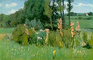 "Otto Modersohn (1865-1943)  ""Sommertag -  Malven"", 1896"