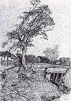 "Otto Modersohn (1865-1943)  ""Moorkanal, Stuermischer Tag"" , 1903"