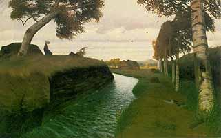 "Otto Modersohn (1865-1943) ""Moorkanal - Stuermischer Tag"", 1903"