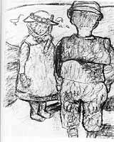 """Paula Modersohn-Becker (1876-1907) """"Zwei Kinder"""" ca. 1904"""