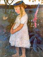 """Paula Modersohn-Becker (1876-1907) """"Elsbeth"""", 1902"""