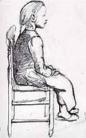 "Paula Modersohn-Becker (1876-1907) ""Sitzendes Bauernmaedchen"", ca. 1899)"