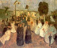 "Paula Modersohn-Becker (1876-1907) ""Abendliches Fest in Worpswede"", 1903"