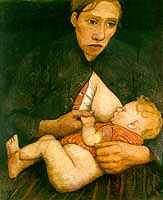 """Paula Modersohn-Becker (1876-1907) """"Stillende Mutter"""", 1903"""