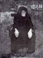 """Paula Modersohn-Becker (1876-1907) """"Sitzende Alte"""" , 1899"""