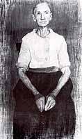 """Paula Modersohn-Becker (1876-1907) """"Sitzende Baeuerin"""", ca 1899"""