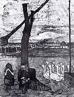 """Paula Modersohn-Becker (1876-1907) """"Die Gaensemagd"""", 1899"""