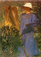 """Fritz Overbeck (1869-1909) """"Malerin vor der Staffelei"""" 1905/06"""