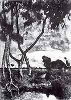 "Fritz Overbeck (1869-1909) ""Sturm im Moor"", 1894"