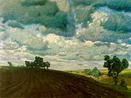 "Fritz Overbeck (1869-1909) ""Stuermischer Tag"", ca. 1900"