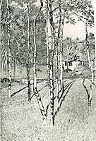 """Fritz Mackensen (1866-1953) """"Die Worpsweder Muehle"""", ca 1900"""