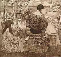 """Johannes Heinrich Vogeler (1872-1942) """"Liebe"""", 1896"""