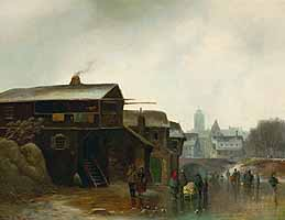 "Anton Doll (1826-1887) ""Winter"" courtesy of Glerum Auction House, The Netherlands"