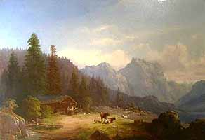 "Anton Doll (1826-1887) ""Am Aachensee"" courtesy of Hellmann Fine Art"