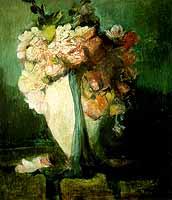 """Anton Mueller-Wischin (1865-1949) """"Rosenstrauss"""""""
