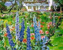 """Arnold Balwe (1898-1983) """"Sommerlicher Garten (Feldwies)"""", ca. 1950"""