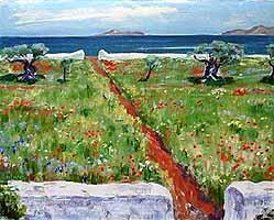 "Arnold Balwe (1898-1983) ""Blumenwiese am Meer"""
