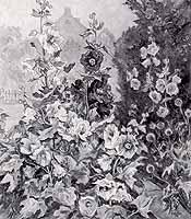 """Benno Eggert (1885-1983) """"Malvengarten in Rosenheim"""""""