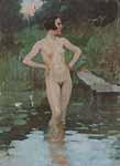 "Brynolf Wennerberg Portrait ""Badende"""