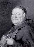 """Eduard von Gruetzner (1846-1925) """"Moench mit Brierkrug"""""""