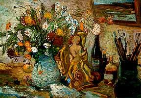 """Erich Glette (1896-1980) """"Strauss mit Margheriten im Atelier"""""""