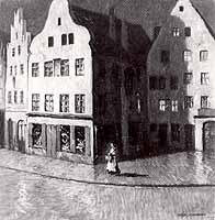 """Ernst Liebermann (1869-1960) """"Alte Gasse"""""""