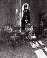 "Ernst Liebermann (1869-1960) ""Blaues Interieur aus dem koenigl. Schloss zu Landshut"""