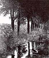 """Franz von Stuck (1863-1928) """"Forellenweiher"""""""