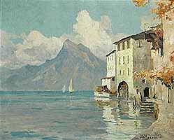 "Hans Maurus (1901-1942) ""Gandria"" courtesy of Joseph Steutzger, Buch am Buchrain"