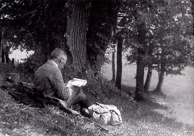 The artist Hely (Wilhelm Kronenbitter)