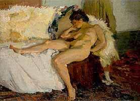 """Hermann Groeber (1865-1935) """"Liegender Akt"""", 1910"""