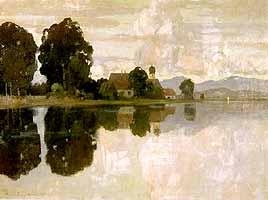 Hermann von Le Suire (1861-1933) Chiemsee mit Fraueninsel