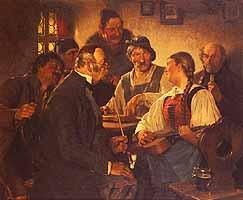 """Hugo Kauffmann (1844-1915) """"Der Zitherspieler"""", 1879"""