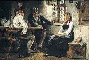 """Hugo Kauffmann (1844-1915) """"In der Wirtsstube"""", 1885"""