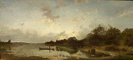 """Josef Wenglein (1845-1919) """"Abend am See"""" - courtesy of Galerie Isolde Weiss, Munich"""
