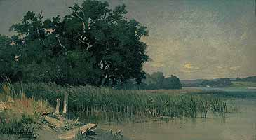 "Josef Willroider (1838-1915) ""Uferstueck am Starnberger See"""