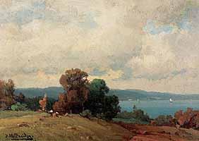 """Josef Willroider (1838-1915) """"Seelandschaft"""""""